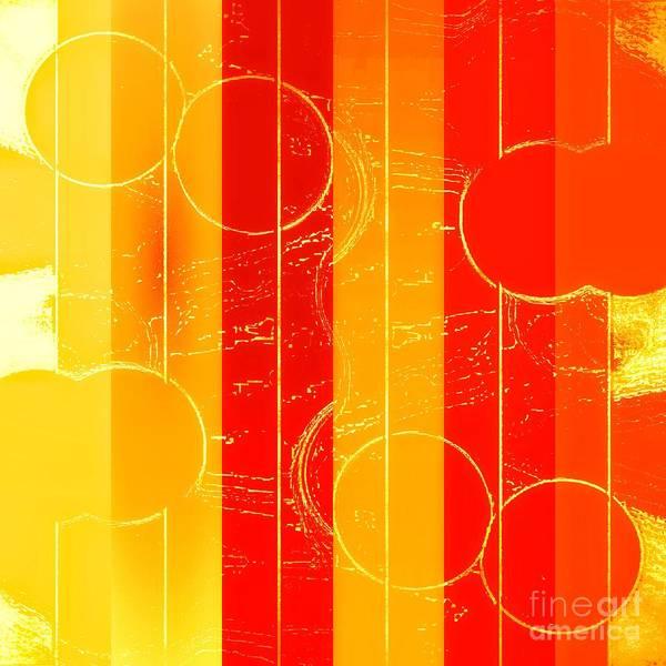 Mixed Media - Drop It Like It's Orange by Rachel Hannah