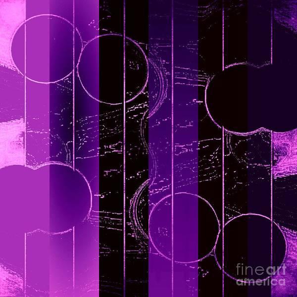 Mixed Media - Drop It Like It's Purple by Rachel Hannah