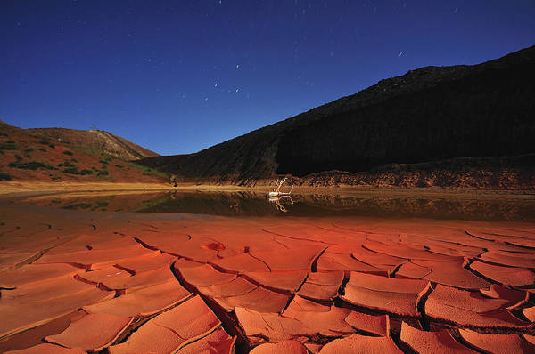 Cracked Photograph - Drought Red by Davidexuvia
