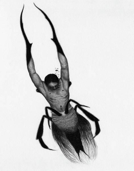 Drawing - Drowned Samurai Kaito - Artwork by Ryan Nieves