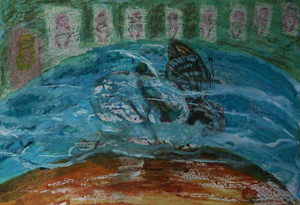 Mixed Media - Drowning Souls From The Sea by Siobhan Dempsey