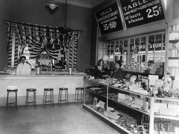 Photograph - Drug Store, 1920s by Granger