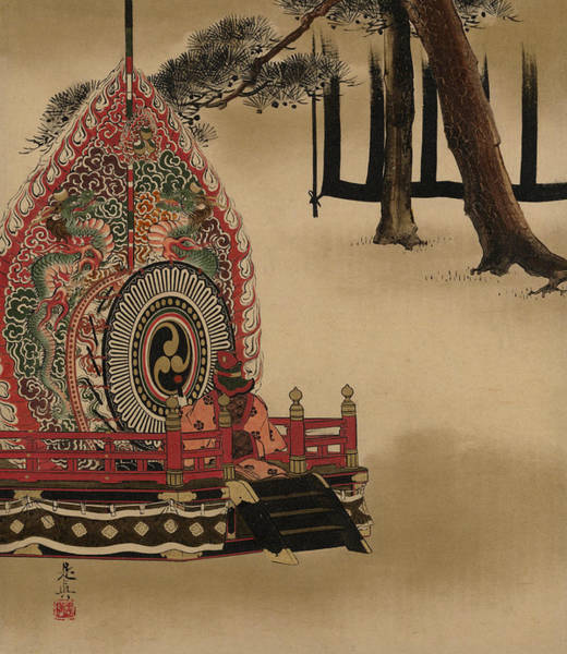 Painting - Drum For Gagaku Dance by Shibata Zeshin