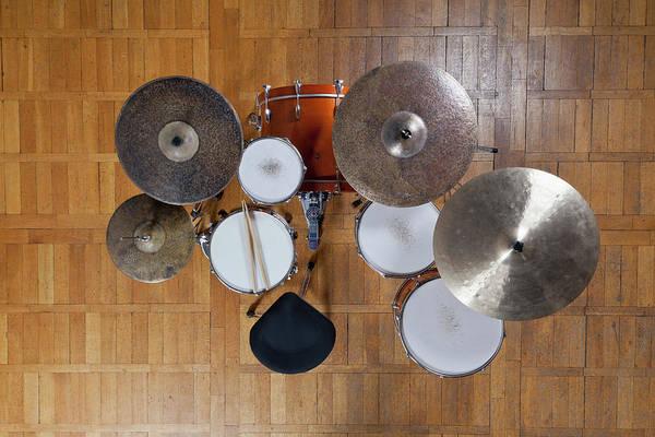 Drum Circle Wall Art - Photograph - Drum Kit From Above by Halfdark