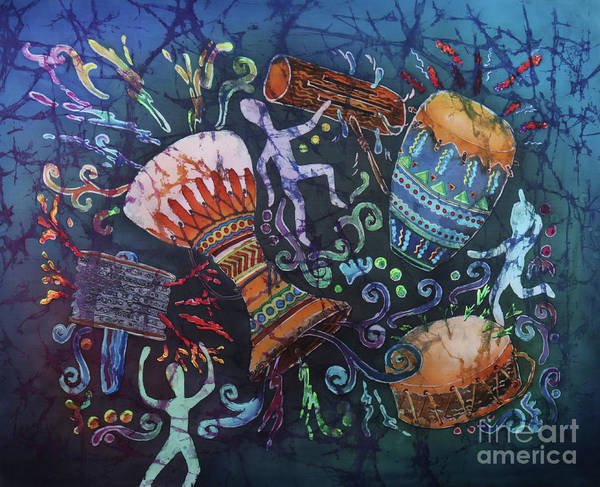 Conga Drum Painting - Drumbeat by Sue Duda
