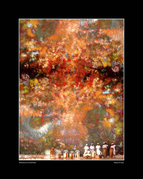 Photograph - Drummers In A Leaf Storm Fine Art Poster by Wayne King