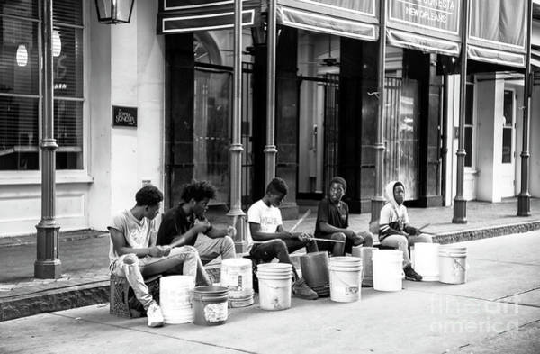 Photograph - Drumming On Bourbon Street New Orleans by John Rizzuto