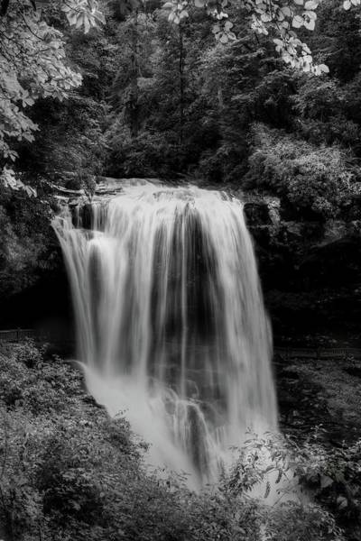 Photograph - Dry Falls Is Not Dry Black And White by Carol Montoya