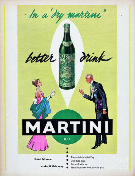 Photograph - Dry Martini by Picture Post