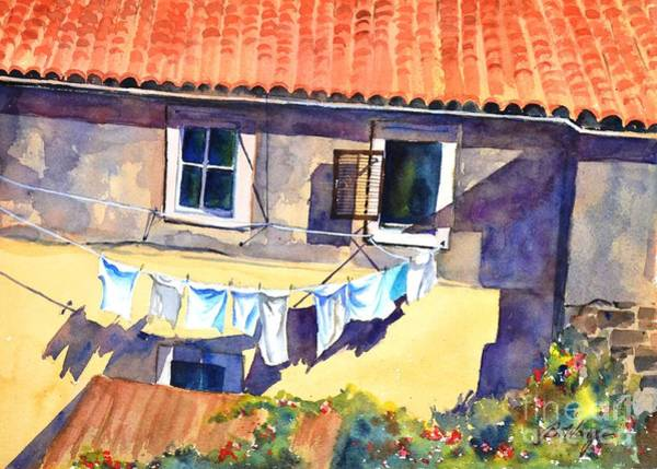 Painting - Drying In The Sun by Betty M M Wong