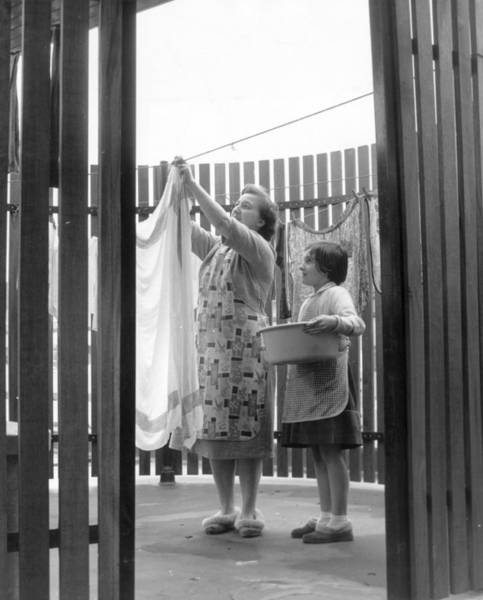 Single Parent Wall Art - Photograph - Drying Porch by Fred Morley