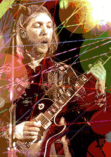 Painting - Duane Allman by David Lloyd Glover