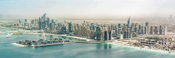 Wall Art - Photograph - Dubai Aerial Panorama by Delphimages Photo Creations