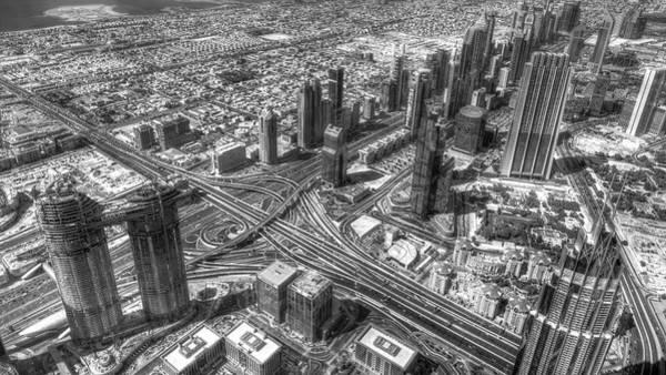 Wall Art - Photograph - Dubai Panorama From The Air  by David Pyatt
