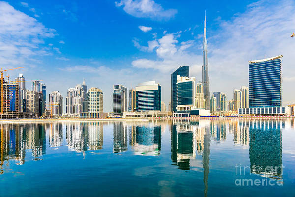 Wall Art - Photograph - Dubai Skyline, Uae by Luciano Mortula - Lgm