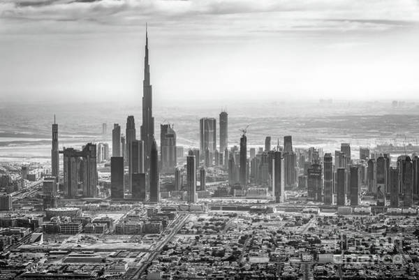 Wall Art - Photograph - Dubai Skyline With Burj Khalifa by Delphimages Photo Creations