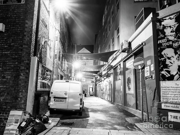Wall Art - Photograph - Dublin Alley Scene At Night by John Rizzuto