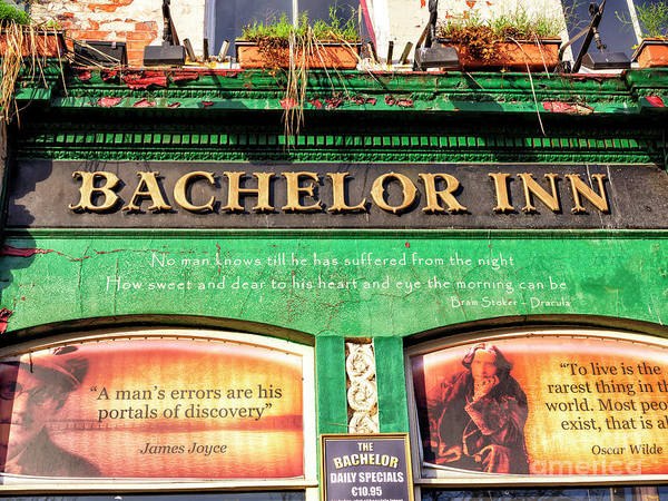 Wall Art - Photograph - Dublin Bachelor Inn Wisdom by John Rizzuto