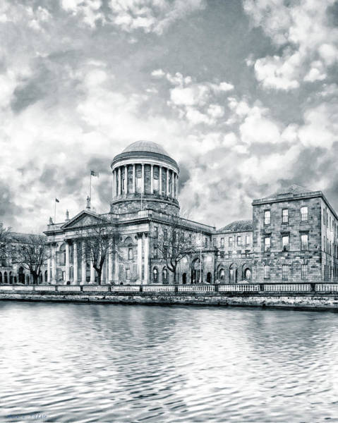 Photograph - Dublin Four Courts In Winter by Mark E Tisdale