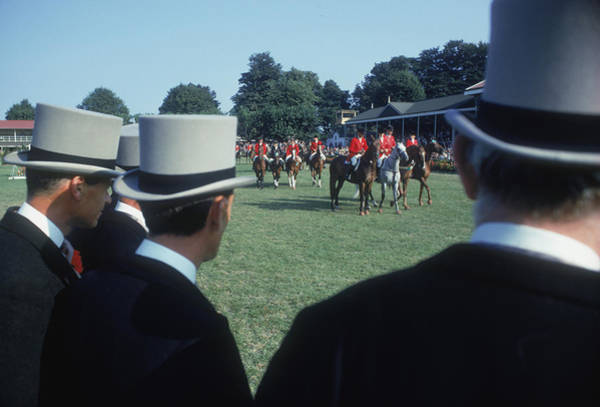 Top Hat Photograph - Dublin Horse Show by Slim Aarons