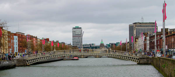 Wall Art - Photograph - Dublin Ireland - Ha Penny Bridge by Bill Cannon