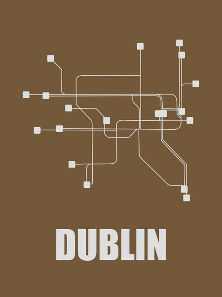 Wall Art - Digital Art - Dublin Subway Map 2 by Naxart Studio