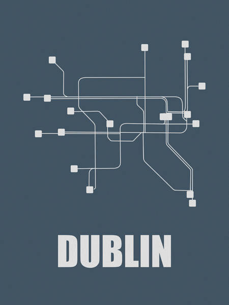 Wall Art - Digital Art - Dublin Subway Map by Naxart Studio