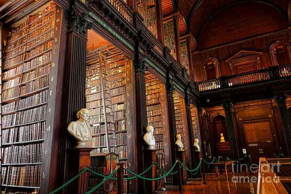 Trinity Photograph - Dublin Trinity College Library  by Olivier Le Queinec