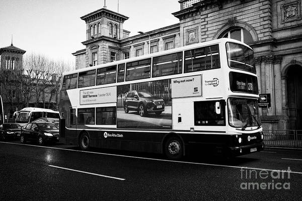 Wall Art - Photograph - dublinbus double deck volvo alexander dennis b7ldd  bus outside connolly station Dublin Republic of  by Joe Fox