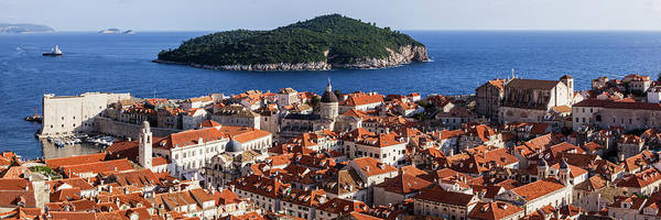Lokrum Photograph - Dubrovnik City Skyline And Lokrum by Pixelchrome Inc