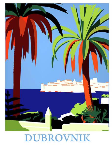 Palm Trees Digital Art - Dubrovnik by Long Shot