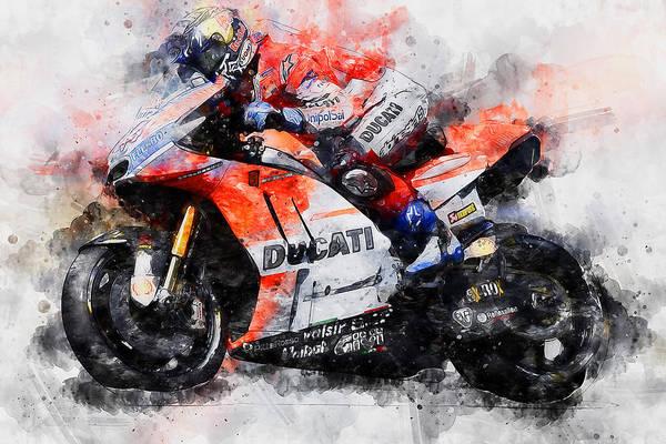 Painting - Ducati Desmosedici 2018 - 01 by Andrea Mazzocchetti