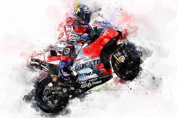 Painting - Ducati Desmosedici 2018 - 02 by Andrea Mazzocchetti