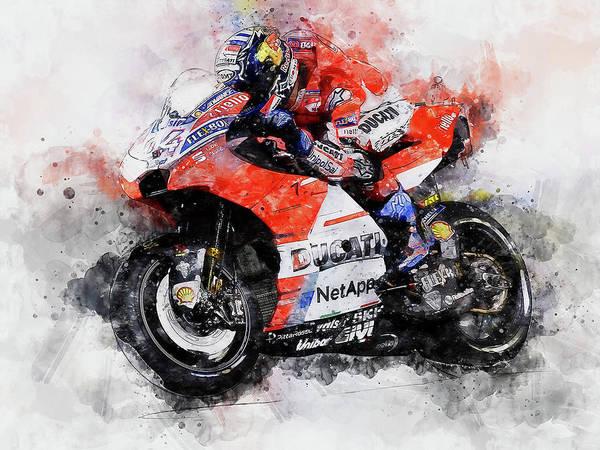 Painting - Ducati Desmosedici 2018 - 03 by Andrea Mazzocchetti