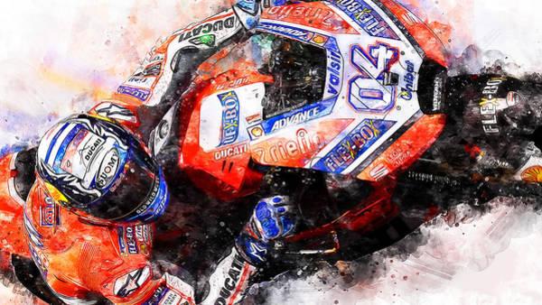 Painting - Ducati Desmosedici 2018 - 04 by Andrea Mazzocchetti