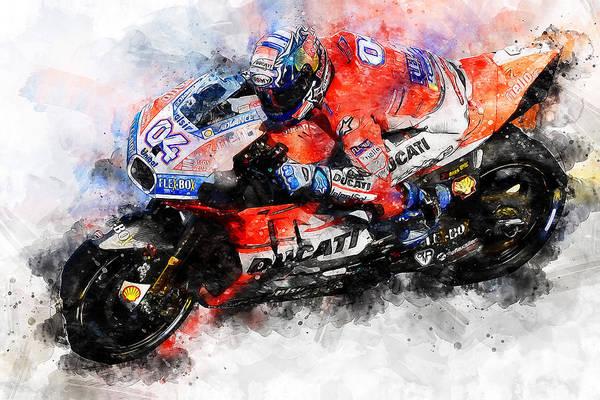 Painting - Ducati Desmosedici 2018 - 05 by Andrea Mazzocchetti
