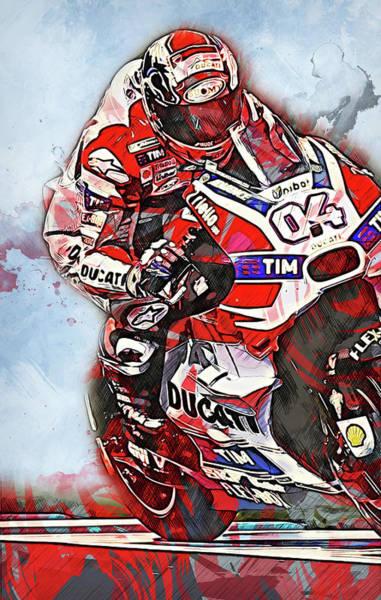 Painting - Ducati Desmosedici 2018 - 06 by Andrea Mazzocchetti