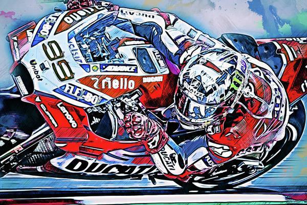 Painting - Ducati Desmosedici 2018 - 09 by Andrea Mazzocchetti