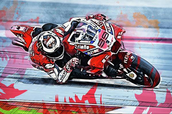 Painting - Ducati Desmosedici 2018 - 10 by Andrea Mazzocchetti