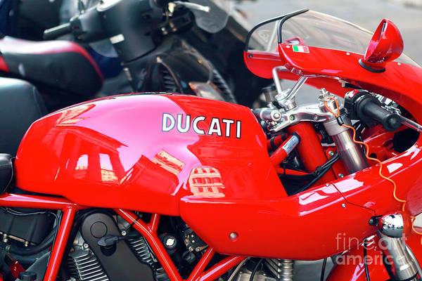 Ducati Bike Photograph - Ducati In Rome by John Rizzuto