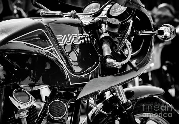 Wall Art - Photograph - Ducati Mike Hailwood Replica Monochrome by Tim Gainey
