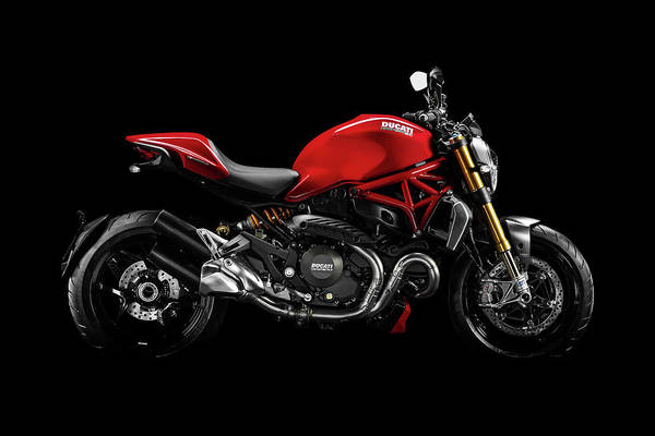 Monster Wall Art - Mixed Media - Ducati Monster 696 by Smart Aviation