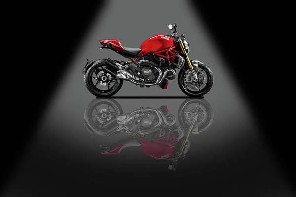 Monster Wall Art - Mixed Media - Ducati Monster 696 Spotlight by Smart Aviation