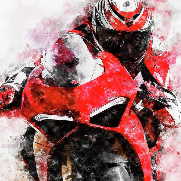 Painting - Ducati Panigale V4 - 11 by Andrea Mazzocchetti