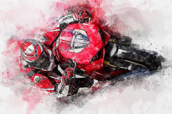 Painting - Ducati Panigale V4 - 12 by Andrea Mazzocchetti