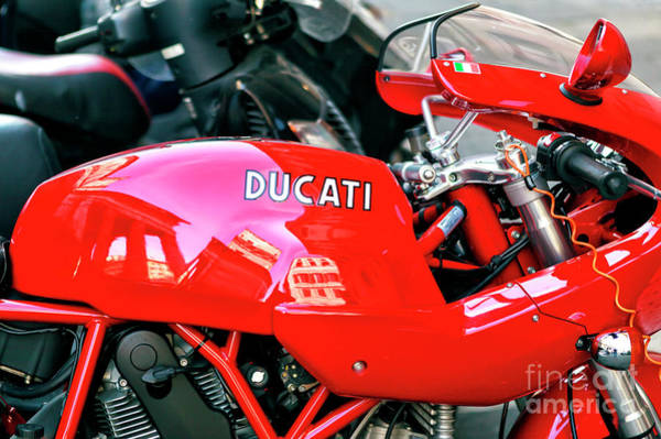 Ducati Reflections In Rome Art Print