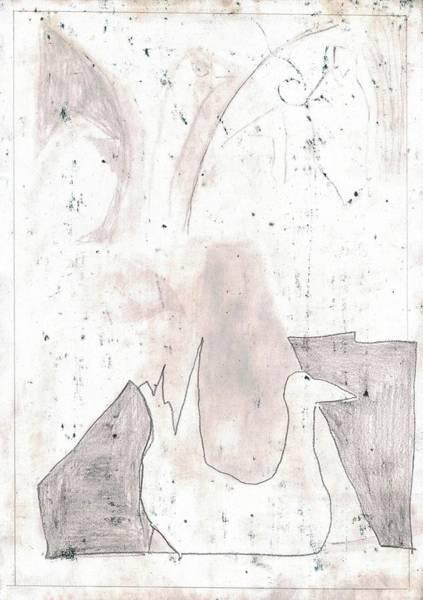Drawing - Duck Pond 2b by Artist Dot
