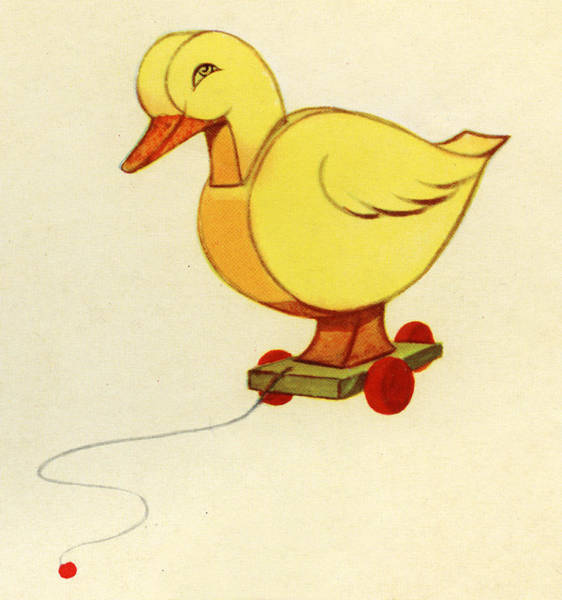 Art Object Digital Art - Duck-shaped Pull Toy by Graphicaartis