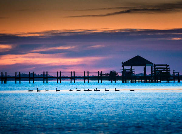 Wall Art - Photograph - Duck Sunset - Outer Banks North Carolina by Mike Koenig