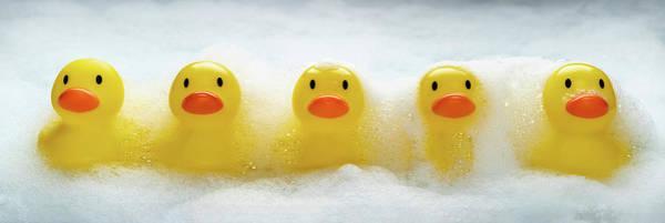 Bubble Bath Photograph - Duckies Duckies Duckies by Steve Gadomski